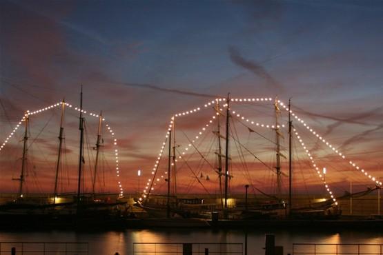 Kerstdiner aan boord van Abel Tasman in Lelystad