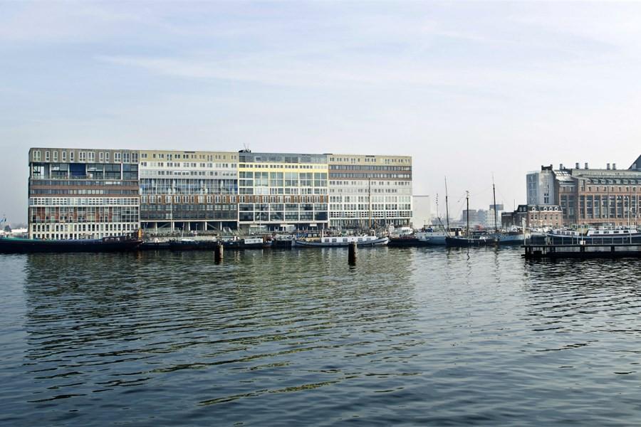 Detailafbeelding van Vaartocht op het Amsterdamse IJ